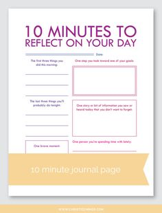 10 Minute Printable Guided Journal Pages — Christie Zimmer Journal Writing Prompts, Journal Pages, Daily Journal, Journals, Bujo, Reflective Journal, Reflective Practice, Journal Questions, Journal Inspiration