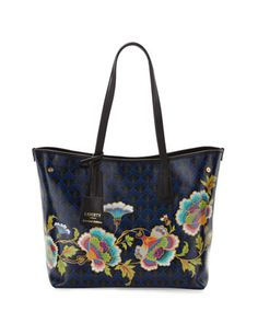Little Marlborough Paradise Tote Bag, Dark Blue by Liberty London at Neiman Marcus.