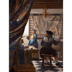 Reprodukcje obrazów Jan Vermeer Alegoria malarstwa #reprodukcje #malarstwo #Vermeer #sztuka #obrazynapłótnie #dekoracje #art #design #dodomu #fedkolor
