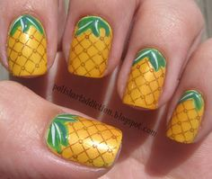 Polish Art Addiction: Pineapple Nails