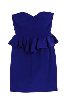 I love this inky blue. And peplums are my favorite. Rebecca Minkoff, $350.