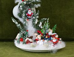 Santa Decor Snow Ornament Christmas Table от VintageShopCreations