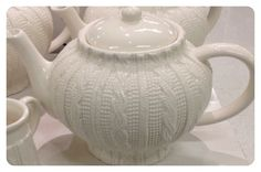 PC Home Teapot #cableknit $10 Coffee And Books, Drinking Tea, Tea Set, Cable Knit, Tableware, Google Search, Inspiration, Biblical Inspiration, Dinnerware