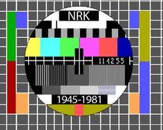 Prøvebilde NRK - etter hvert ble TV vanlig i de tusen hjem, også i farger