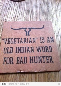 Vegetarian...