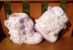 Sine we can not find shoes small enough for tiny little Presley's feet (my sisters 9 month old) I guess we need to learn how to make her some! I love these!!