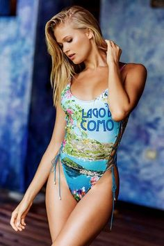 d69df9fe13290 The amazing Como photo print is on full display in this glamorous and sexy  cutout one