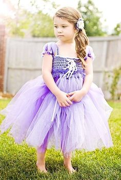 Rapunzel Inspired Princess Tutu Dress/ Halloween Costume Hand Crocheted, Custom | eBay