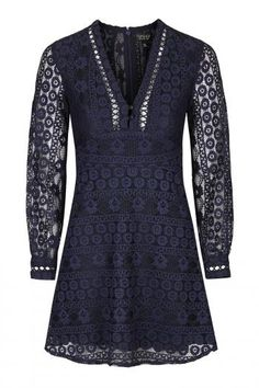 72% off - Now: £15.00 - Womens Lace Mini Dress - Navy Blue, Navy Blue -…
