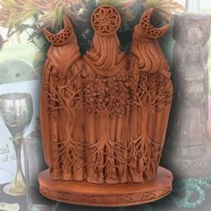 Triple Goddess Resin Statue by Mickie Mueller