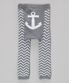 Look at this #zulilyfind! Gray Zigzag Anchor Leggings - Infant by Doodle Pants #zulilyfinds