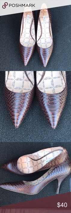 Jones of NY Brown alligator skin heels size 8 Beautiful Jones of NY brown alligator skin heels in great shape. Worn a few times. Size 8. Jones New York Shoes Heels