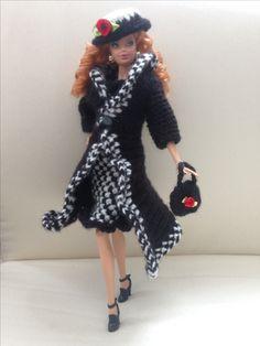 Barbie crochet black and white