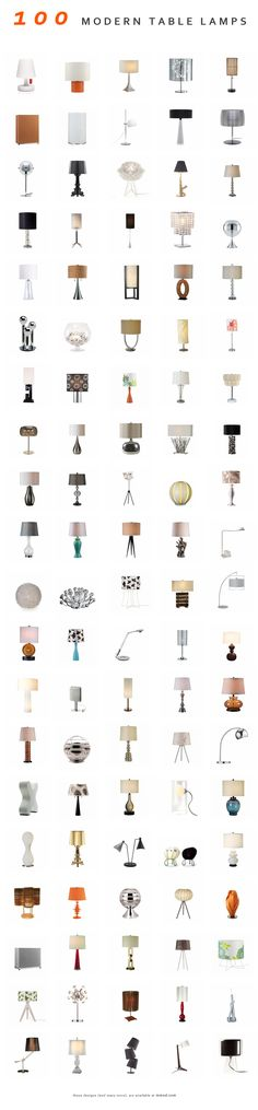 100 Modern table lamps (and many more) at Inmod