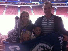 At a hockey game