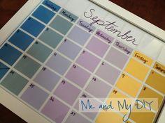Dry Erase Calendar at Me and My DIY
