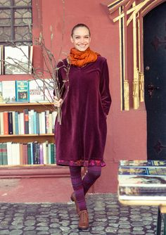 Velour tunic in eco-cotton/polyester – Fabulous rugs – GUDRUN SJÖDÉN – Webshop, mail order and boutiques | Colourful clothes and home textiles in natural materials.