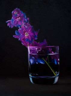 Delphinium - Oil painting by Lauren Pretorius http://cgi.ebay.com/ws/eBayISAPI.dll?ViewItem=161072558905