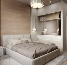 Trendy Bedroom Design For Men Apartments Headboards Interior, Bedroom Interior, Contemporary Apartment, Home Decor, Minimalist Bedroom, Modern Bedroom, Home Interior Design, Interior Design Bedroom, Trendy Bedroom