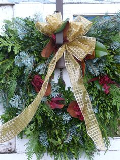 """Thank you Watering Can for a beautiful """"living wreath"""" to replace the fake store bought one that fell apart after one week...I should have known better to go for the best first!!"""