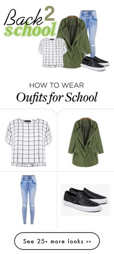 """Back 2 school"" by tinitini2103 on Polyvore featuring Myne and Vans"