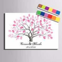 party signs Wedding Customized Personalized Fingerprint Tree Signature Canvas Painting Wedding Tree Wedding Gift wedding decoration many styles (Include Colors) Wedding Tree Guest Book, Personalized Wedding Guest Book, Guest Book Tree, Tree Wedding, Wedding Signs, Gift Wedding, Christmas Wedding, Wedding Favors, Party Favors