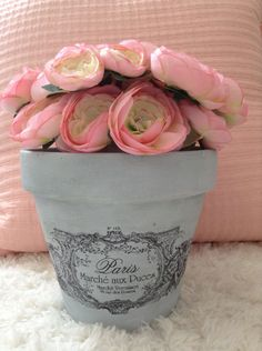 Gorgeous French Frame Flower Pot | vintage reflections