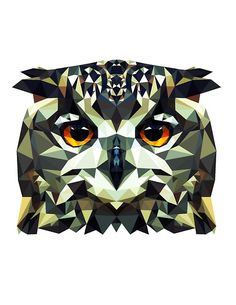 geometric owl ---http://funeralfriends.tumblr.com/