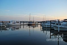 This peaceful sunrise was enjoyed at the marina in New Bern, NC