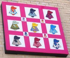 Sunbonnet Sue - Haggle Shop - Kingsport, TN - Painted Barn Quilts on Waymarking.com