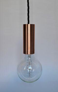 Hängelampen - Pendelleuchte - Kupfer / E27 - ein Designerstück von LIMYE-SHOP bei DaWanda