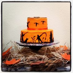 Outdoorsman's cake. #hunting, fishing party