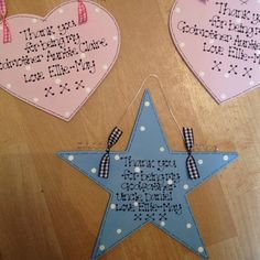 Christening Godparent gift star or heart Godparent Ideas, Godparent Gifts, First Holy Communion, Christening, Florence, Birthday Candles, Celebrations, Projects To Try, Baby Shower