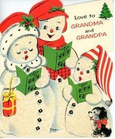 Caroling snowmen family