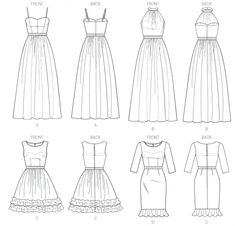Simplicity 4744 Sewing Pattern Womens Dress by patternshop