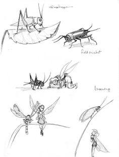 Tinkerbell 3 - Carolyn Gair - grasshoppers ✤ || CHARACTER DESIGN REFERENCES | キャラクターデザイン |  • Find more at https://www.facebook.com/CharacterDesignReferences & http://www.pinterest.com/characterdesigh and learn how to draw: concept art, bandes dessinées, dessin animé, çizgi film #animation #banda #desenhada #toons #manga #BD #historieta #strip #settei #fumetti #anime #cartoni #animati #comics #cartoon from the art of Disney, Pixar, Studio Ghibli and more || ✤