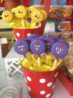 Cute cookie pops at a farm birthday party! See more party ideas at CatchMyParty.com!