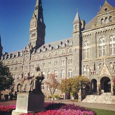 Georgetown University.  You can just walk the campus or take a tour.