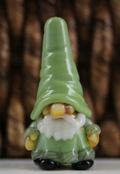 Glass Gnome Bead in Light Green