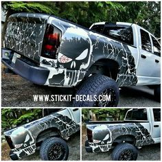 Thanks @assault_ts for sending some killer pictures of his bed wrap I made for him. http://ift.tt/1IOpqK1 #wrap #wraps #truckbed #punisher #skull #metallic #truck #bedwrap #vinyl #wrapped #decal #sticker