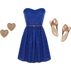 simple blue, created by alanna-bowes on Polyvore