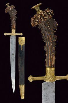 A Masonic hunting knife.     Germany,  19th Century.