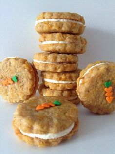 Carrot Cookies - Sweets for an Angel Carrot Cookies, Healthy Cookies, Cake Cookies, Cupcake Cakes, Cookie Desserts, Cookie Recipes, Dessert Recipes, Gourmet Desserts, Plated Desserts
