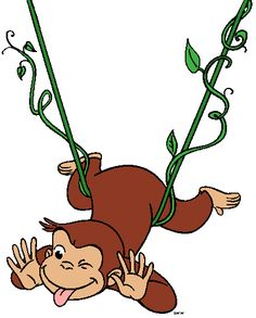 Curious george swinging picture
