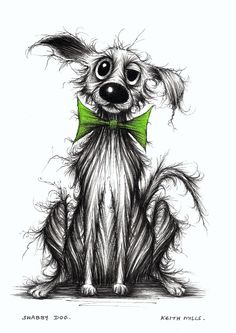 Shabby dog By Keith Mills.