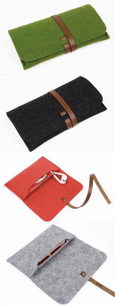 Wool Felt Sleeve Cover Case For iPhone 7/7 Plus/6/6 Plus/6S/6S Plus