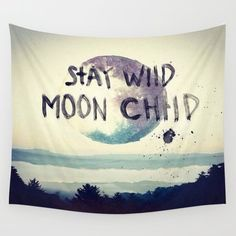 Wall Tapestry featuring Stay Wild by Lostfog Co.