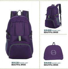 Portable Folding Waterproof Backpack Camping Mountaineering package Travel bag
