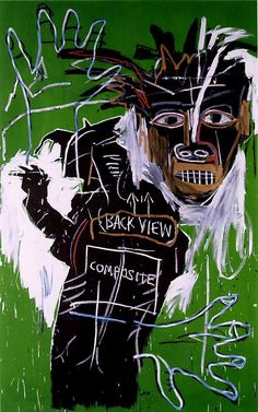 Self-Portrait as a Heel, Part Two  Artist: Jean-Michel Basquiat  Completion Date: 1982  Style: Neo-Expressionism  Genre: figurative painting  Dimensions: 243.8 x 15 cm