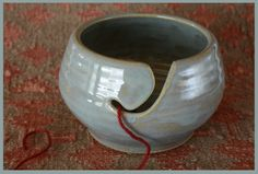 Gorgeousssss! Yarn bowl in turquoise!